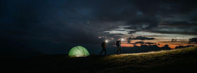 llum frontal per trekking