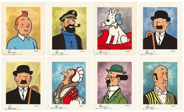 imatge dels personatges de Tintín