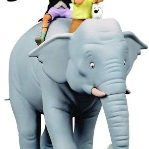 Tintin i Milú a un elefant