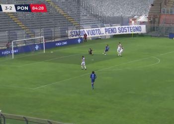 Como Pontedera, il gol del 4-2