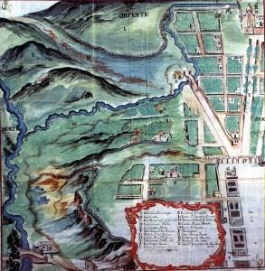 Plano parcial de Valladolid 1751