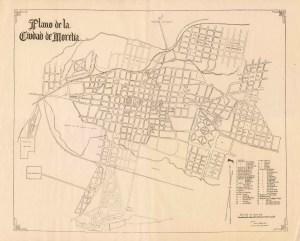 Plano de la Ciudad de Morelia, por Antonio Farfan Rios, 1941.
