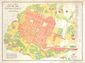 Plano de la ciudad de Zitácuaro, 1970.