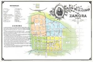 Plano de la ciudad de Zamora, 1903.