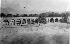 Acueducto y plazuela de las ánimas, hoy jardín Villalongín,01, 1870-1880