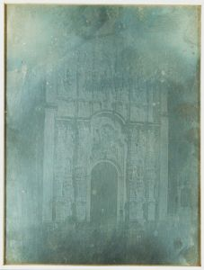 Daguerrotipo Fachada del Sagrario Metropolitano en la Catedral Metropolitana, por Jean Prelier Dudoille, circa 1840