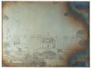 Daguerrotipo Puerto de Veracruz, por Jean Prelier Dudoille, 3 de diciembre de 1839