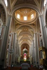 Vista del interior de la Catedral de Morelia