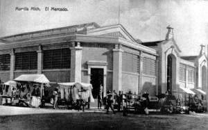 Mercado que existió en la Plaza de la Constitución, antes cementerio de San Francisco, hoy Plaza Valladolid