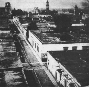 Vista de San Francisco y el Templo de la Tercera Orden, vistos desde el templo de San José