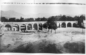 Plazuela de las Ánimas, actual Jardín Manuel Villalongín, hacia 1880.