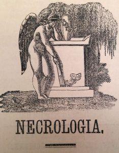 Viñeta de la sección de necrología (difuntos)
