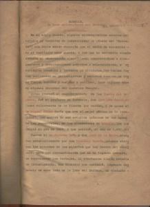 Primera página del informe escrito por el Dr. Jesús García Tapia, originalmente en 1956 y reescrito en 1975.