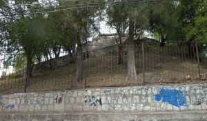 Fotografía tomada de Google Earth, del llamado Calvario, montículo prehispánico en Santa María de Guido, Morelia