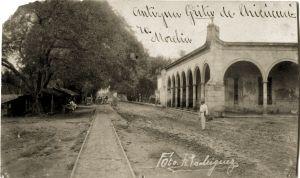 Garita de Chicácuaro o del Poniente, antes de la explosión.