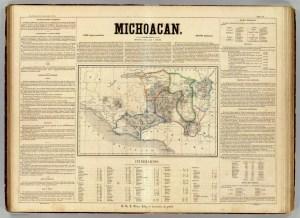 Atlas geografico, estadistico e historico de la Republica Mexicana. Carta XIV. Michoacá, 1858.