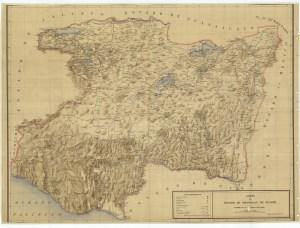 Carta del Estado de Michoacán de Ocampo, 1915