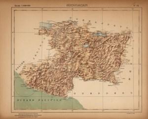 Michoacán, 1922. Fuente: Mapoteca Manuel Orozco y Berra.