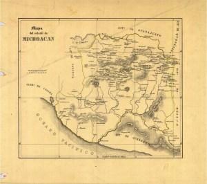 Mapa del Estado de Michoacán, 1828-1830