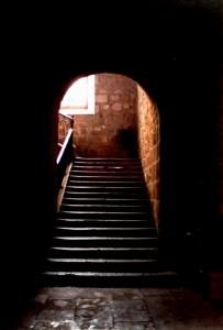 Escalera de la Facultad de Derecho, ex convento de San Diego