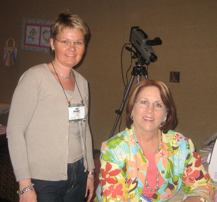 Donna Dewberry (t.h.) og undertegnede