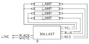Espen VE432MVHIPLE Instant Start Low Factor Fluorescent