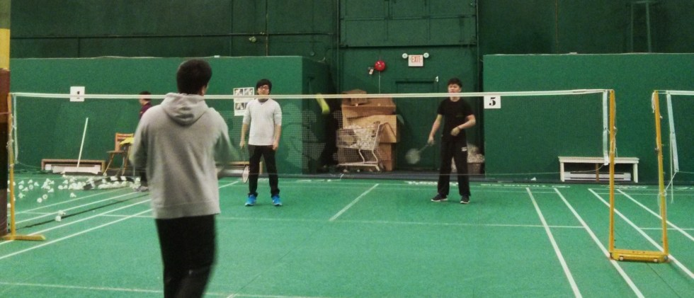 Playing Badminton with Students on Fridays