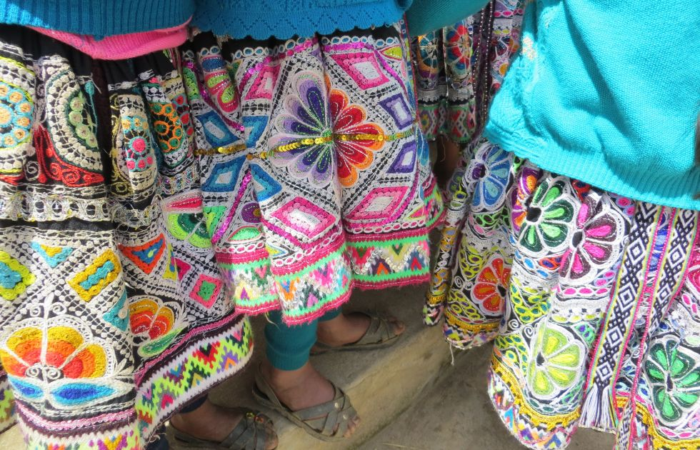 Embroidered Skirts Cusco