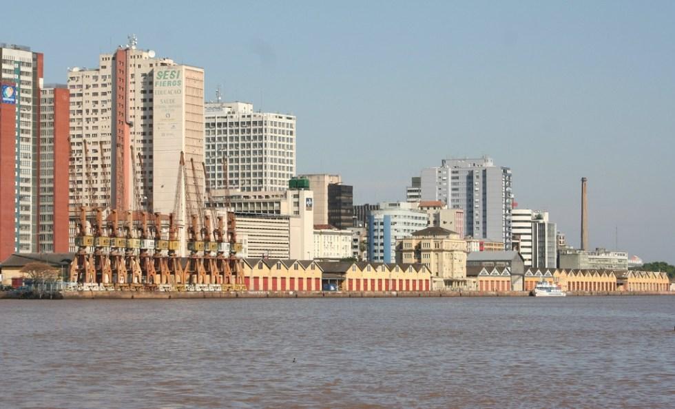 Vista parcial da cidade de Porto Alegre