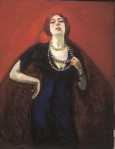 Portrait of Guus Preitinger wife of Kees van Dongen, Kees van Dongen 1910, van Gogh Museum Amsterdam