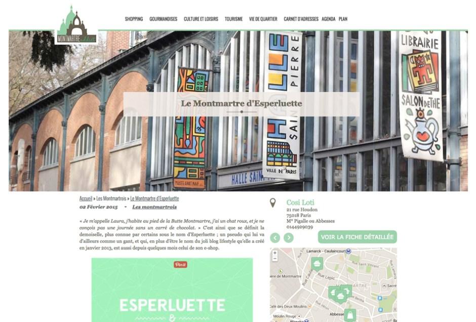 Revue de blogs Montmartre Addict et Esperluette