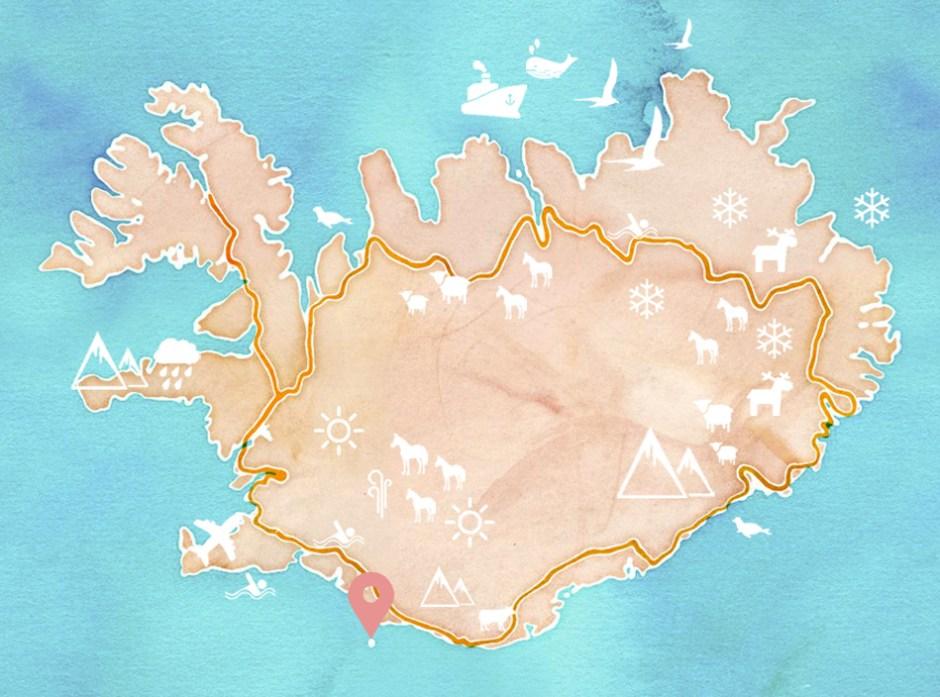 Carte Islande - île de Heimaey