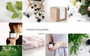 Bougies Minette à Bicyclette