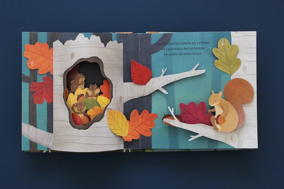 Livre jeunesse en pop up : les trésors cachés de la forêt