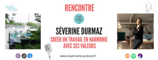Séverine Durmaz créatrice de la Péniche Althea parle de son parcours au micro d'Esperluette Podcast