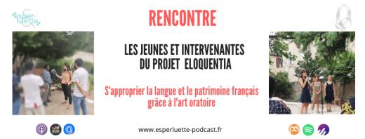 Les jeunes allophones et les intervenants du projet eloquentia sur Esperluette podcast