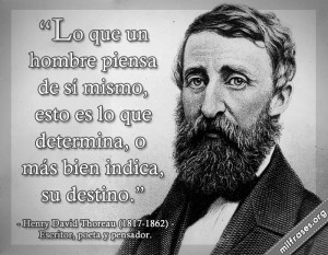 Reivindican a David Thoreau