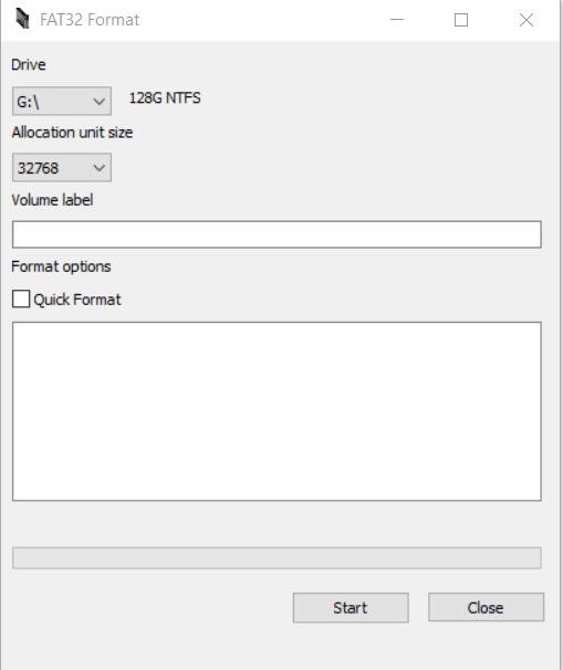 Programa para formatear tarjeta SD