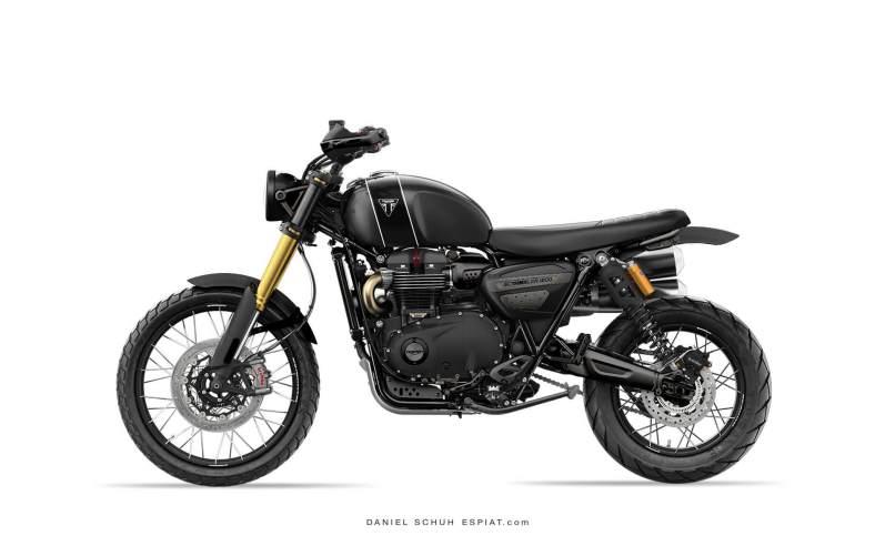 Triumph Scrambler 1200 Xe Umbau Black