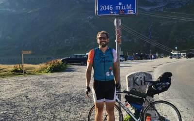 Continua la traversata delle Alpi in bicicletta di Andrea Della Rosa