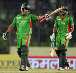 Tamim Iqbal reaches his third consecutive ODI half-century, Bangladesh v Sri Lanka, Asia Cup, Mirpur, March 20, 2012
