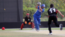 USA skipper Sushil Nadkarni is bowled by Aizaz Khan during the 11th place play-off final at the ICC World Twenty20 Qualifier played at the ICC Global Cricket Academy on 23rd March 2012