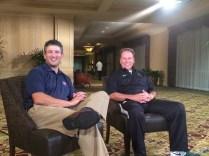 Andy Katz with Michigan State head coach Tom Izzo. (Photo courtesy of Andy Katz)