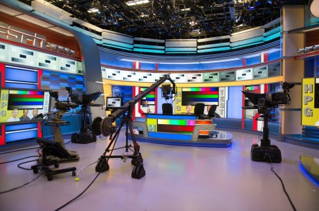 """Beginning tonight, a re-designed Studio F will begin its life as a """"wraps"""" studio for college basketball, college football, WNBA, soccer, and many other sports. (Rich Arden/ESPN Images)"""