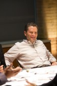 2012: Jeremy Schaap chats with his colleagues during an episode of E:60. (Thomas LaGrega / ESPN Images)
