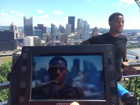 Le'Veon Bell are taken at Mt. Washington, Pittsburgh, PA along Grandview Avenue. (Matt Rissmiller/ESPN)