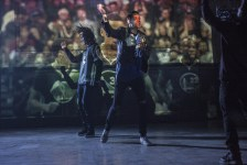 """G-Eazy performs a special remixed version of his new single """"Random."""" (Grady Brannan)"""