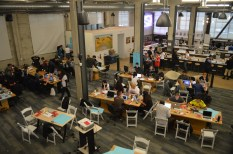 Galvanize San Francisco served as the host site for the weekend-long hackathon. (Alexander Mendioro/Girls in Tech))