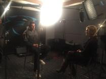Jade McCarthy interviews Carolina Panthers head coach Ron Rivera for her Sunday NFL Countdown feature. (Dominique Goodridge/ESPN)