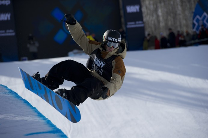 Jack Mitrani competes in Men's Snowboard SuperPipe Elimination during Winter X Games Aspen 2012. (Scott Clarke/ESPN Images)